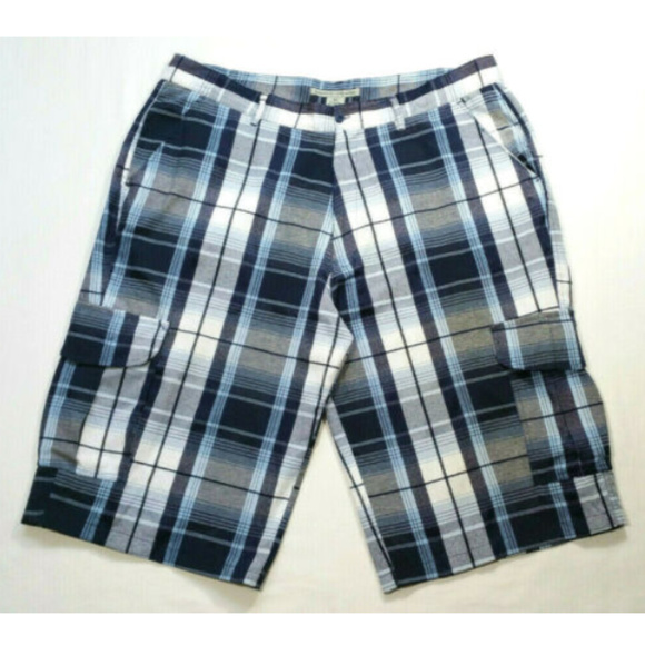 Beyond the Limit Other - BEYOND THE LIMIT Plaid Casual Cargo Shorts 2368E2